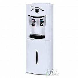 Кулер Ecotronic K21-LF white+black с холодильником вид сбоку, фото увеличенное