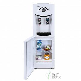 Кулер Ecotronic K21-LF white+black с холодильником вид на холодильник