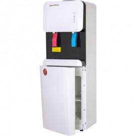 Кулер для воды Aqua Work 105-LDR бело-черный фото с открытым шкафчиком