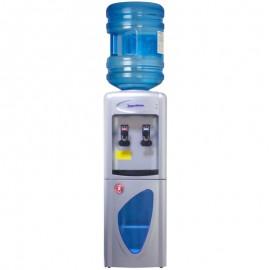 Кулер для воды Aqua Work 0.7-LR серебро вид с бутылкой