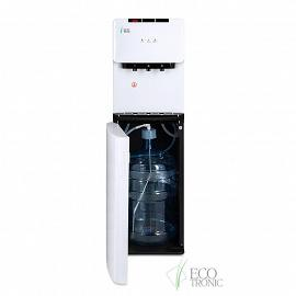 Кулер с нижней загрузкой бутыли Ecotronic K41-LXE white+black фото с открытой дверцей