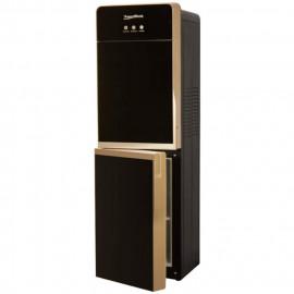 Кулер для воды Aqua Work DR85-W BLack-Gold вид сбоку со шкафчиком