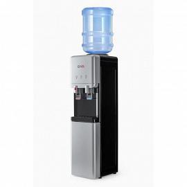Кулер для воды со шкафом LC-AEL-65c silver фото сбоку, с бутылью