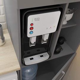 Кулер встроенный в мебель Ecotronic V11-U4T INSIDE Black, вид на кухне