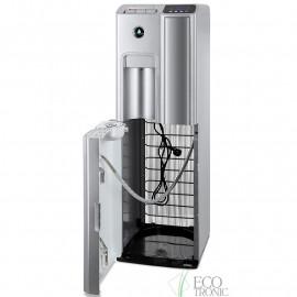 Кулер Ecotronic P7-LX silver с нижней загрузкой бутыли, открытая дверь