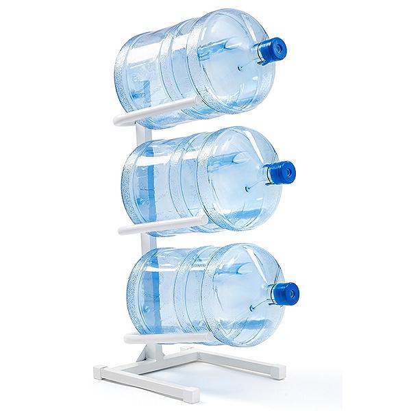 Подставка для бутылей на 3 шт, белая