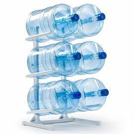 Подставка для бутылей на 6 шт, белая