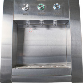 Встроенный кулер для воды PROINSIDE STEEL вид на краны и кнопки подачи воды