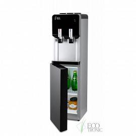Кулер с холодильником Ecotronic M40-LF black+silver фото с открытым холодильником