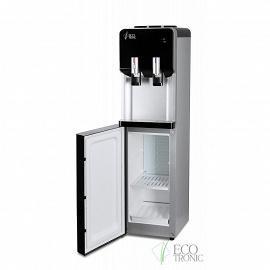 Кулер с холодильником Ecotronic M40-LF black+silver с открытой дверцей