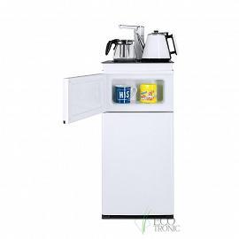 Кулер с чайным столиком Тиабар Ecotronic TB4-LE white с открытой дверкой шкафчика