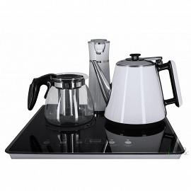 Кулер с чайным столиком Тиабар Ecotronic TB4-LE white фото с чайниками